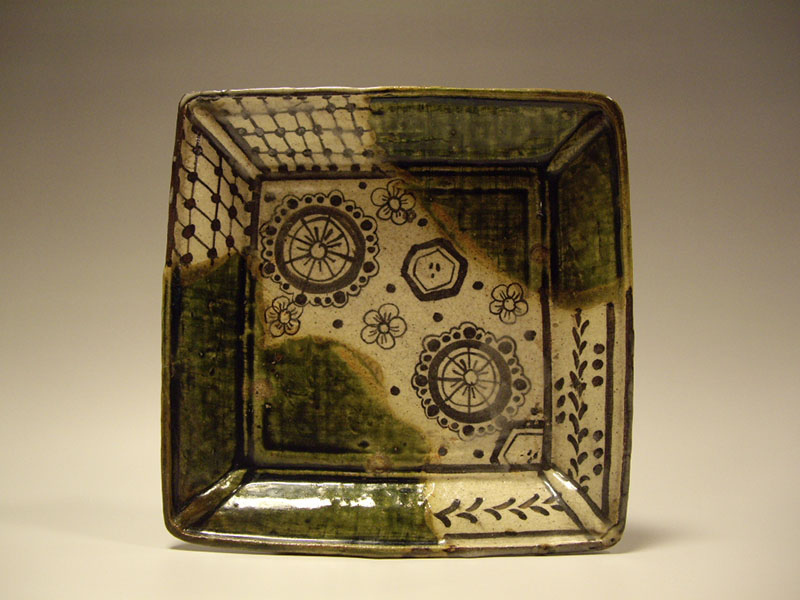 織部 角鉢